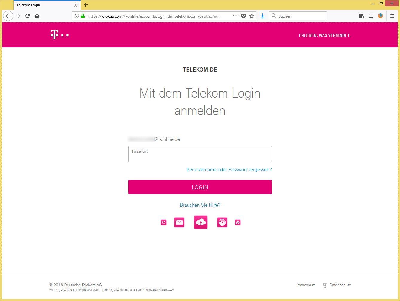 Benachrichtigung von Telekom (h.winter-fuerth@t-online.de