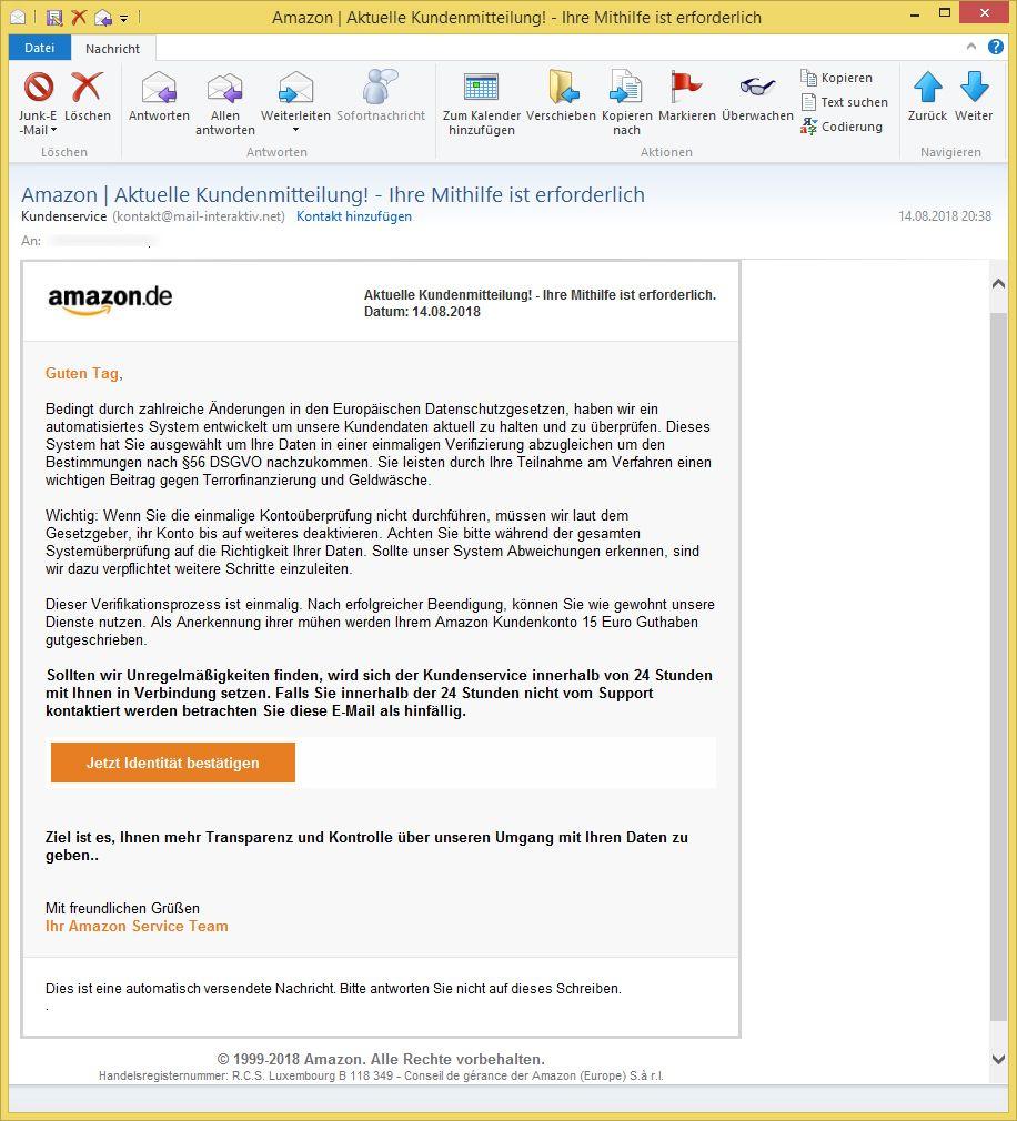 Amazon Kontakt Mail