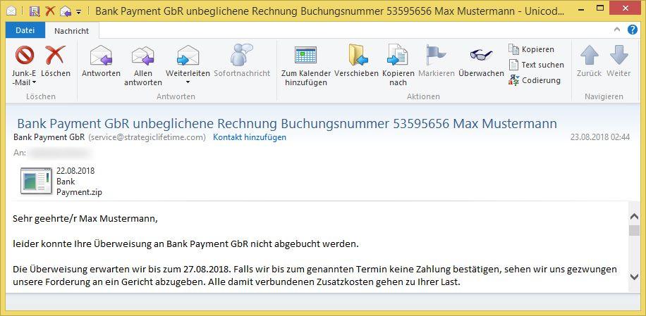 bank payment gbr unbeglichene rechnung buchungsnummer 53595656 max mustermann von bank payment. Black Bedroom Furniture Sets. Home Design Ideas