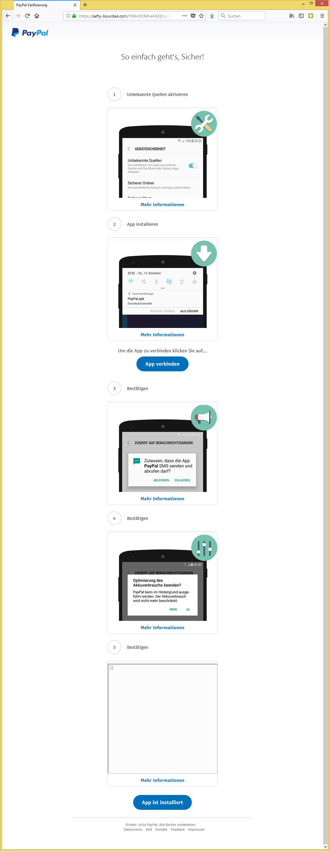 paypal konto bestätigen app