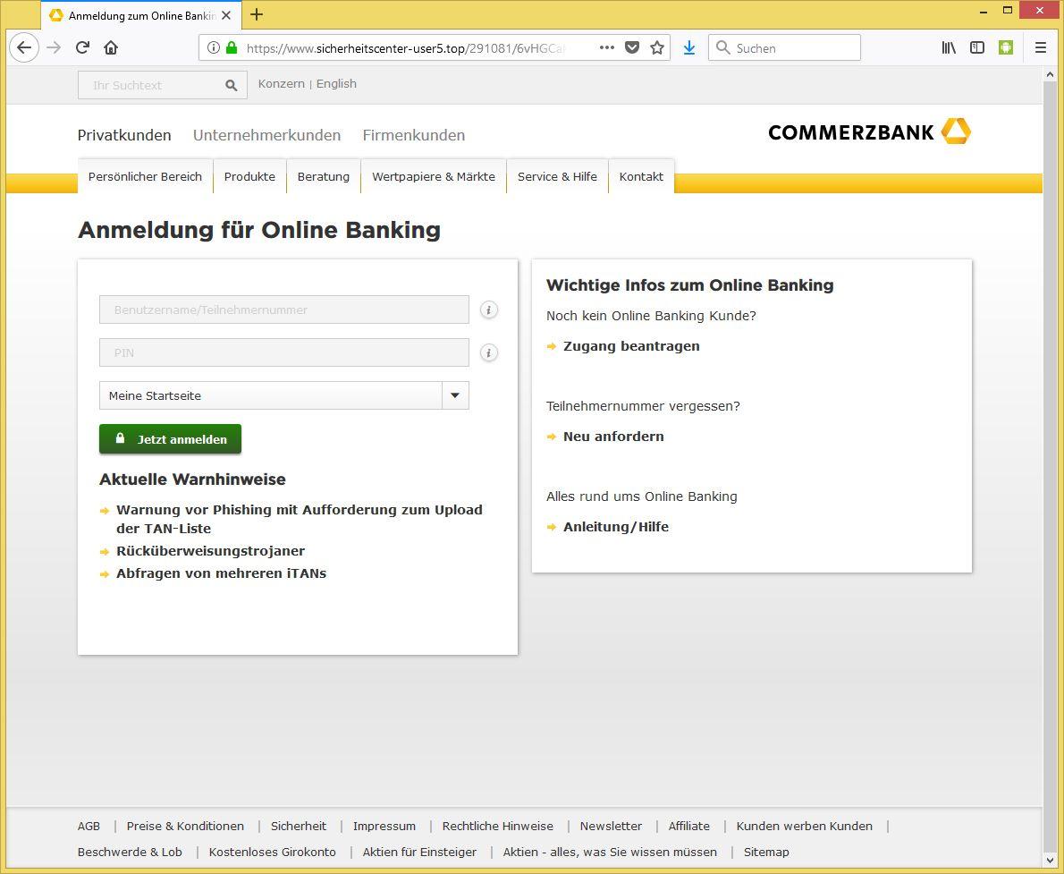 www commerzbank online banking