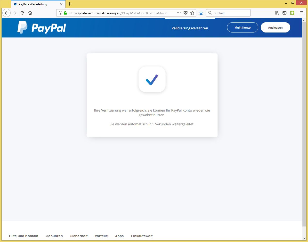 Paypal Personalausweis