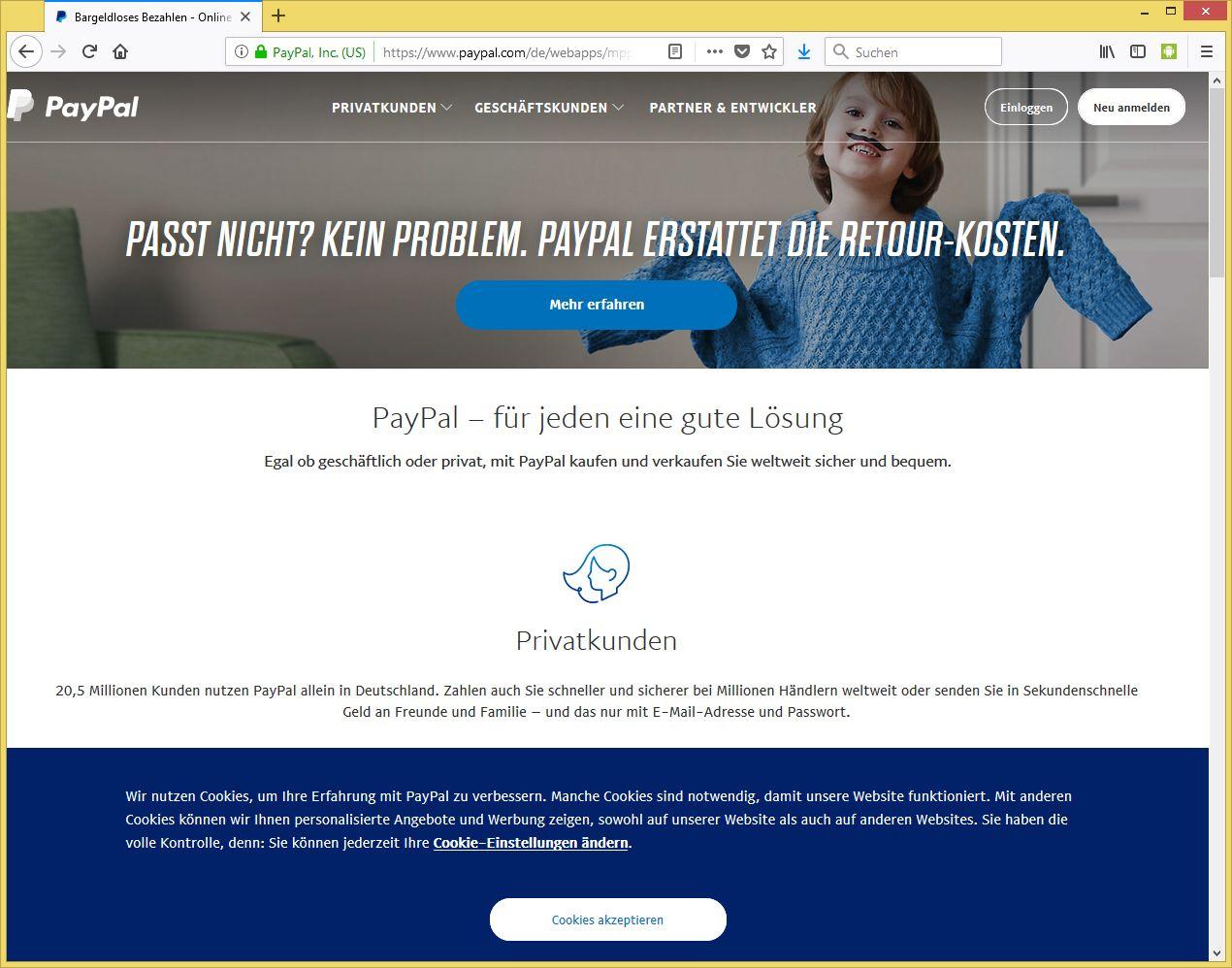 Paypal Verifizierung Mail