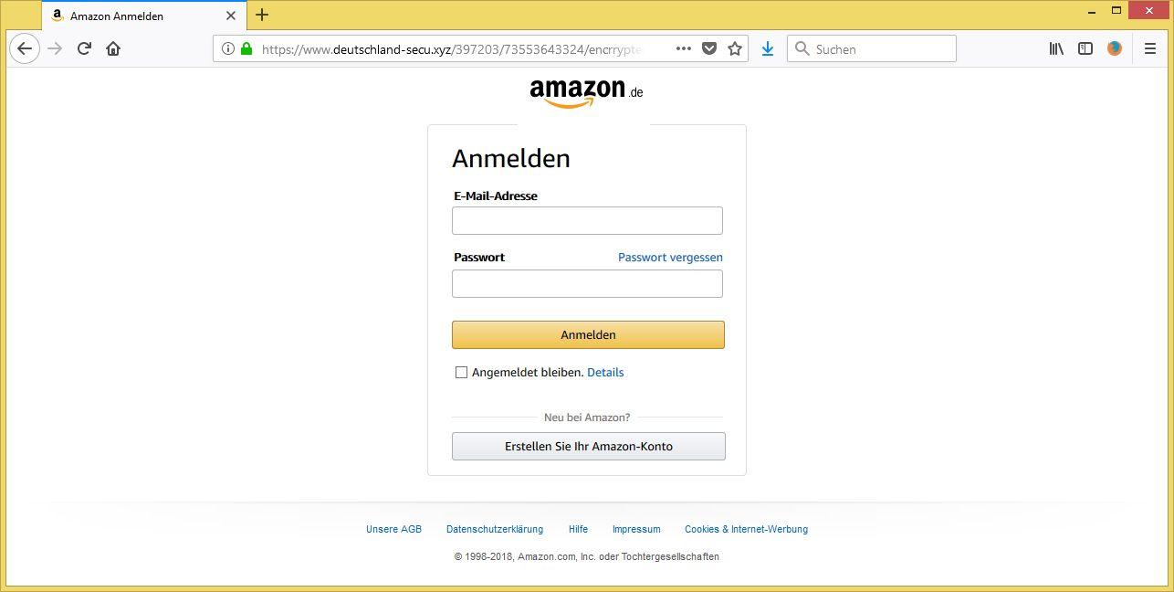 konto pr fung von service amazon help center ist phishing vorsicht e mail. Black Bedroom Furniture Sets. Home Design Ideas