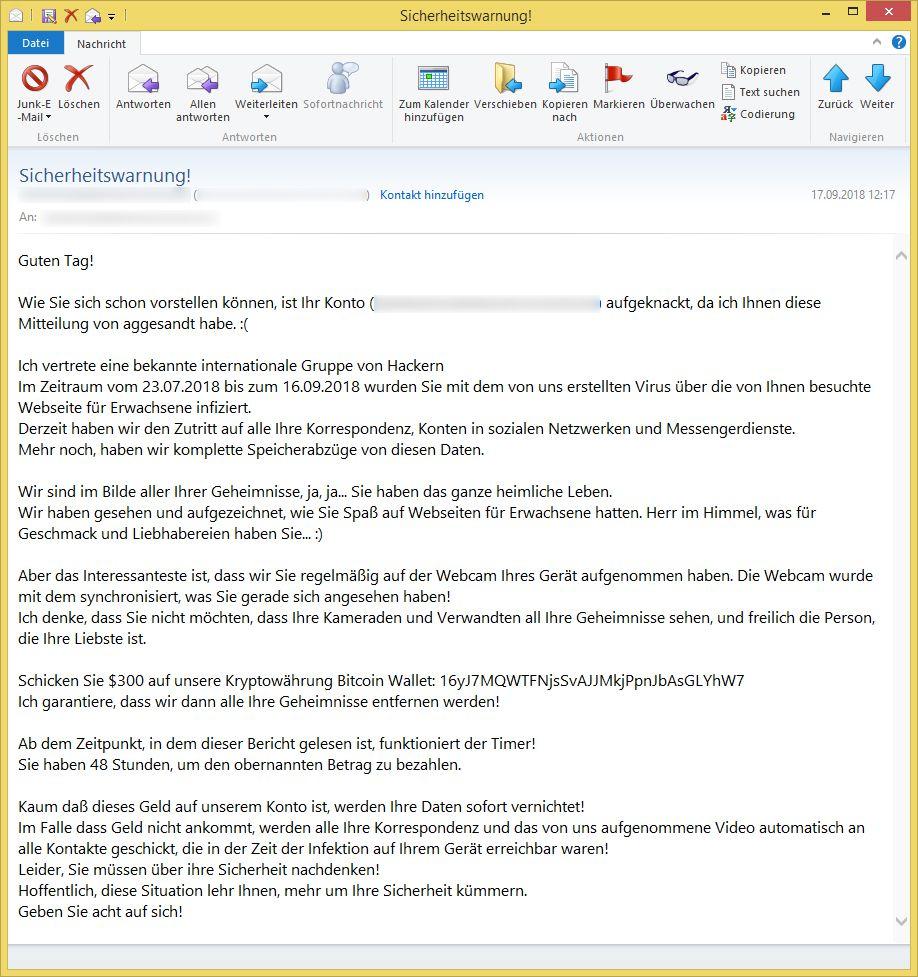 Email Erpressung