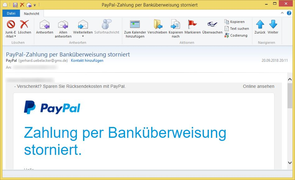 Paypal Zahlung Per Banküberweisung