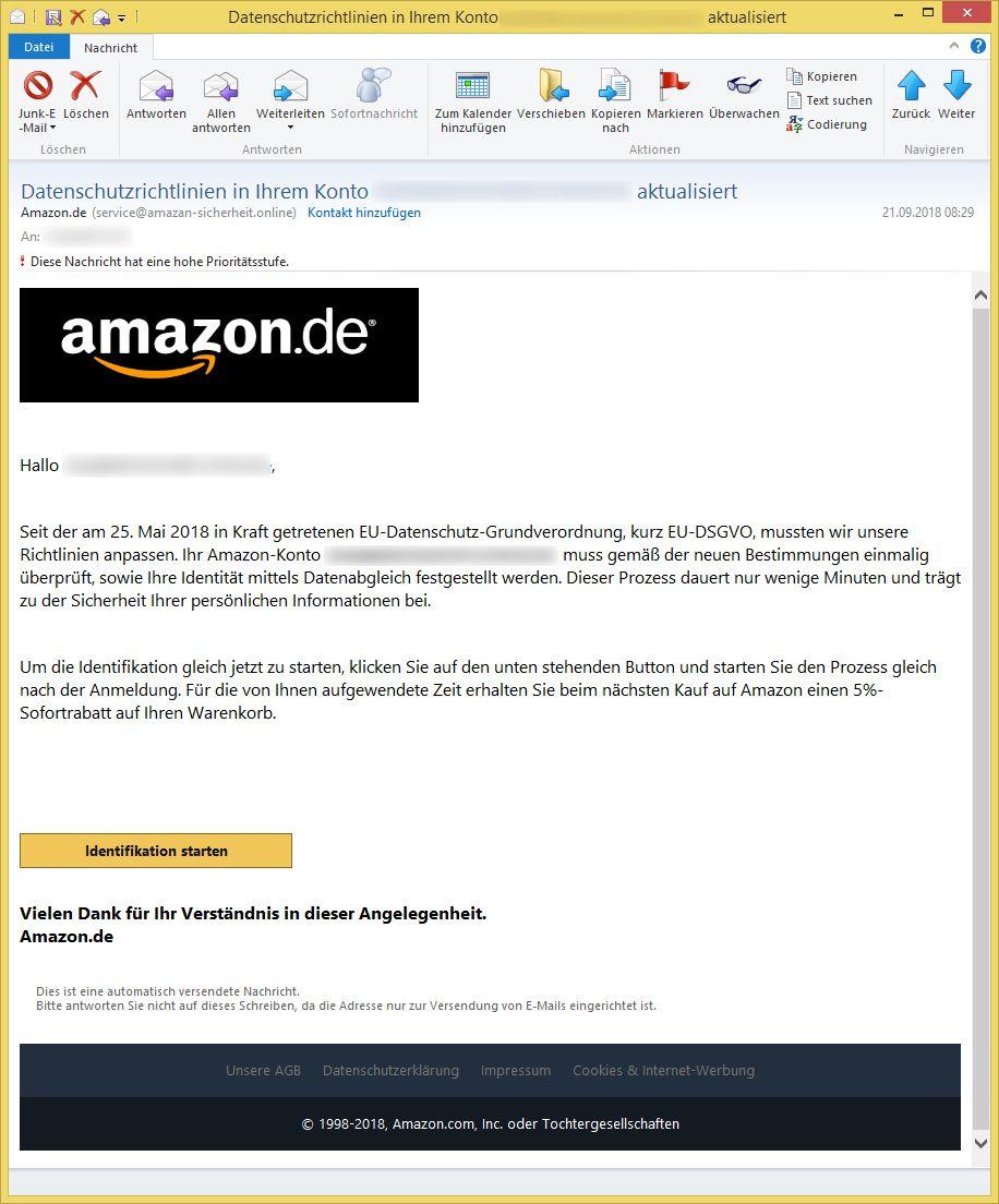 amazon e-mail adresse