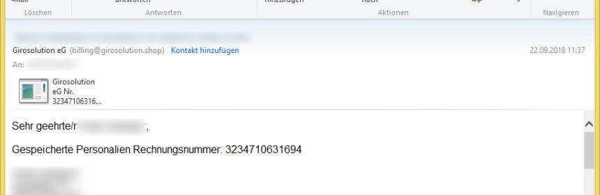 Online Banking Trojaner Vorsicht E Mail