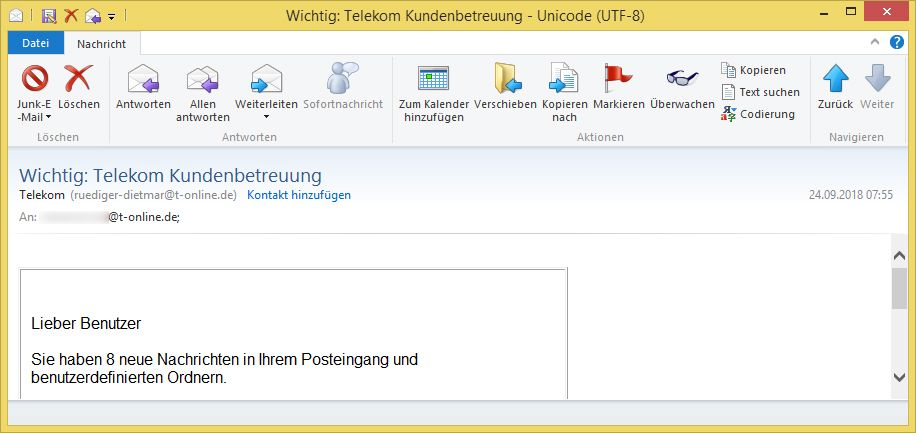 Kundenbetreuung Paypal Email