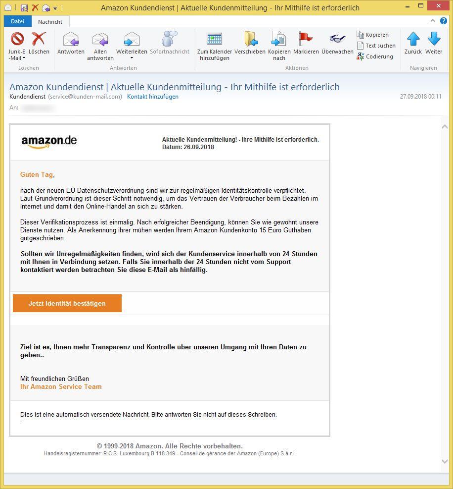 Amazon Kundendienst