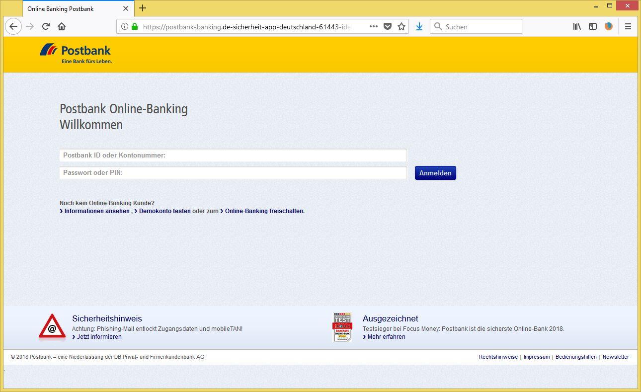 Postbankonline Banking.De