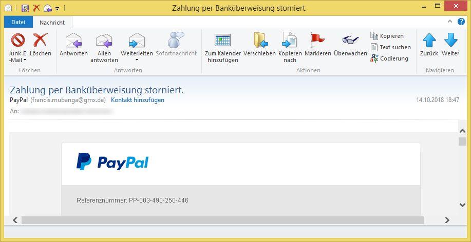 Zahlung Per BankГјberweisung