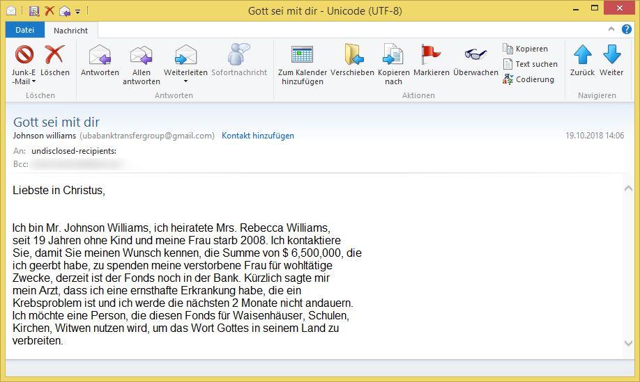Email An Gott