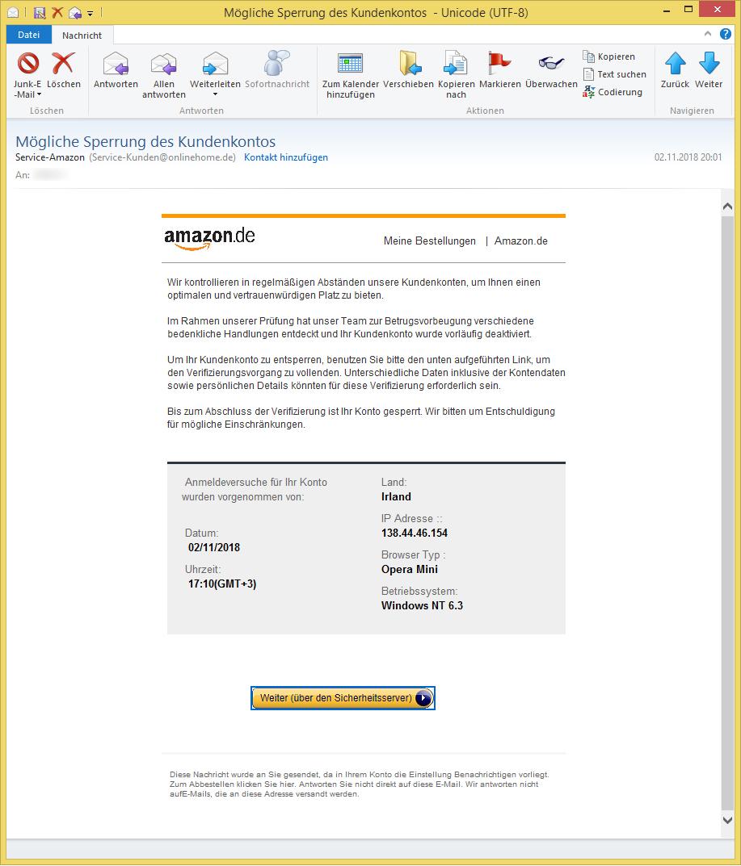 Amazon Kundenkonto Deaktiviert