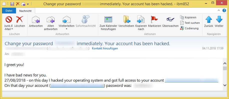 My bank account has been hacked