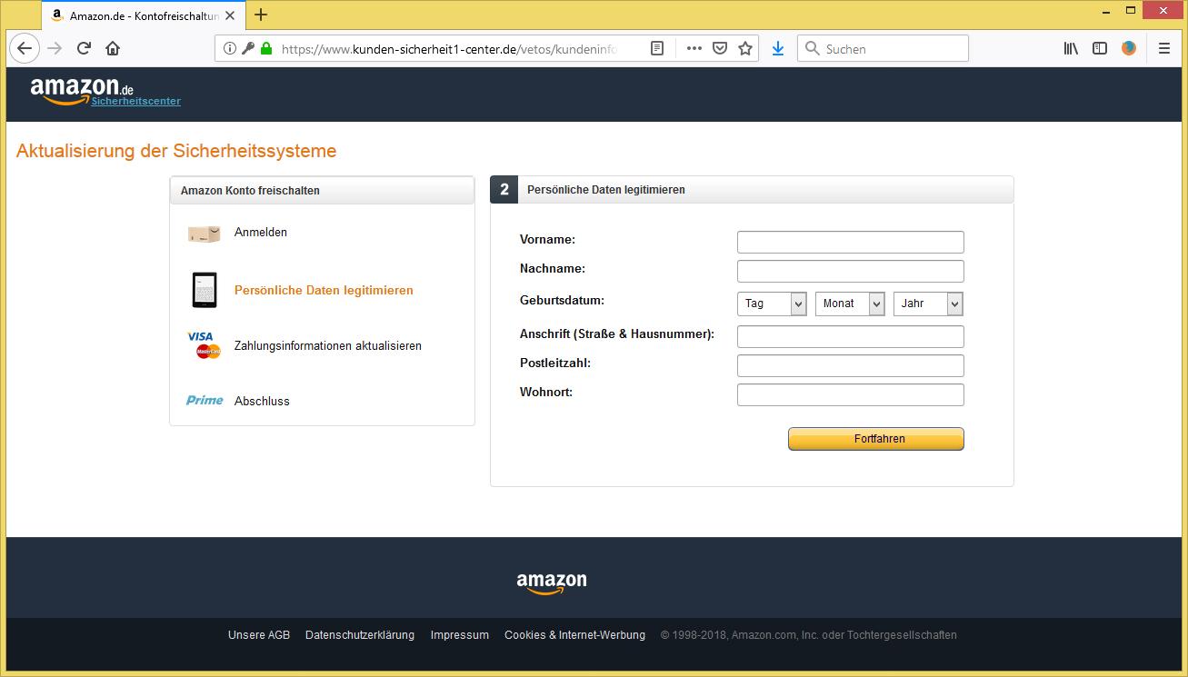 Amazon Konto Gehackt Email