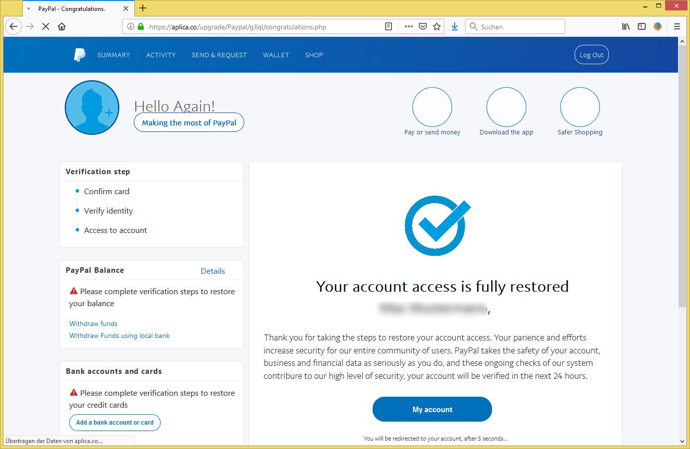 Email Von Paypal Merkwürdige Transaktion