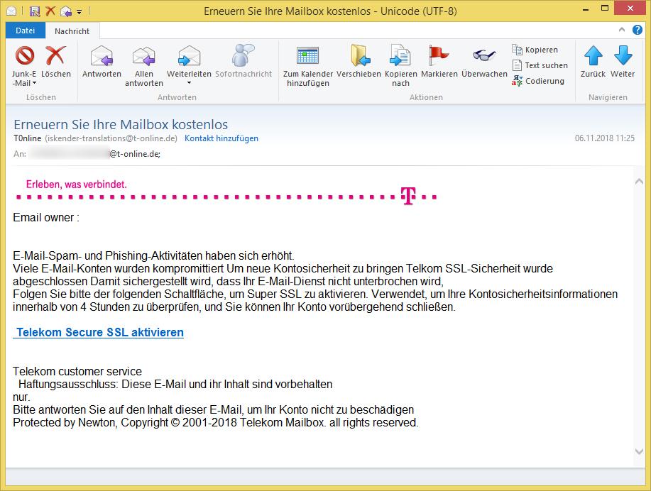 Telekom email login erneuern